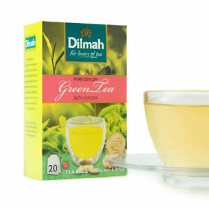 100-Ceylon-Pure-Dilmah-Green-tea-With-Natural-Ginger-Tea-Bags-Free-Shipping