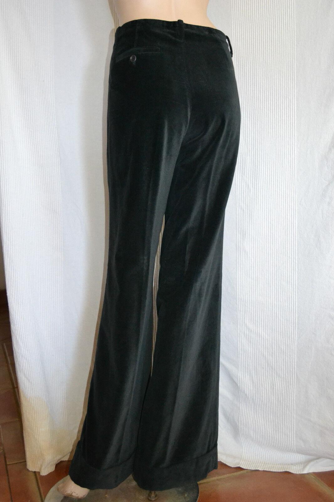 Original HACHE Samt Hose trousers velvet pantalon M 38 40 neu  NEW schwarz