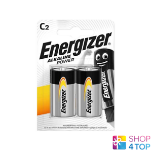 2 ENERGIZER C ALKALINE POWER LR14 BATTERY 1.5V BABY R14 MN1400 AM2 E93 NEW