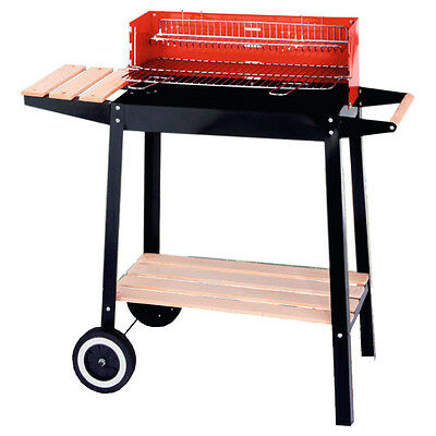 GARDEN CHARCOAL BARBECUE BBQ TROLLEY GRILL CAMPING OUTDOOR PARTY BARBEQUE