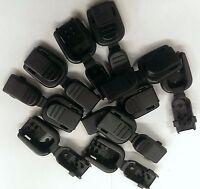 (10) Black Plastic Zipper Pulls Cord Lock Ends Paracord Tactical Zip Rope 9