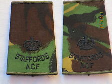Rangschlaufen:  Major, Staffordshire Regiment , ACF, DPM, STAFFORDS