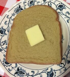 BUTTER Display Home Stage Movie Prop Faux Fake Food Replica WHEAT BREAD Slice