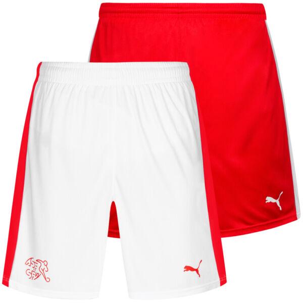 Schweiz PUMA Damen Heim Auswärts Sport Fußball Trainings Shorts 748752 neu
