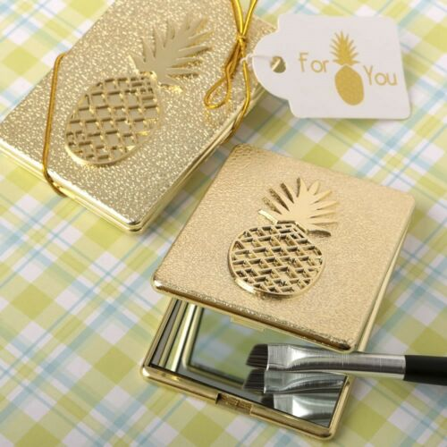 60 Gold Pineapple Compacts Wedding Bridal Baby Shower Birthday Party Favors
