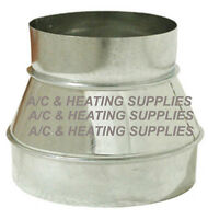 6 To 4 6x4 4x6 Single Wall Metal Reducer / Increaser For Duct / Other Purpose.