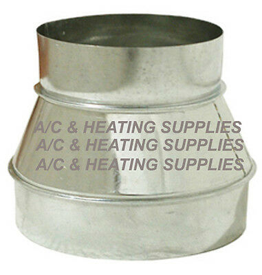 7 to 6  7x6  6x7 Single Wall Metal Reducer Increaser for Duct Other purpose.