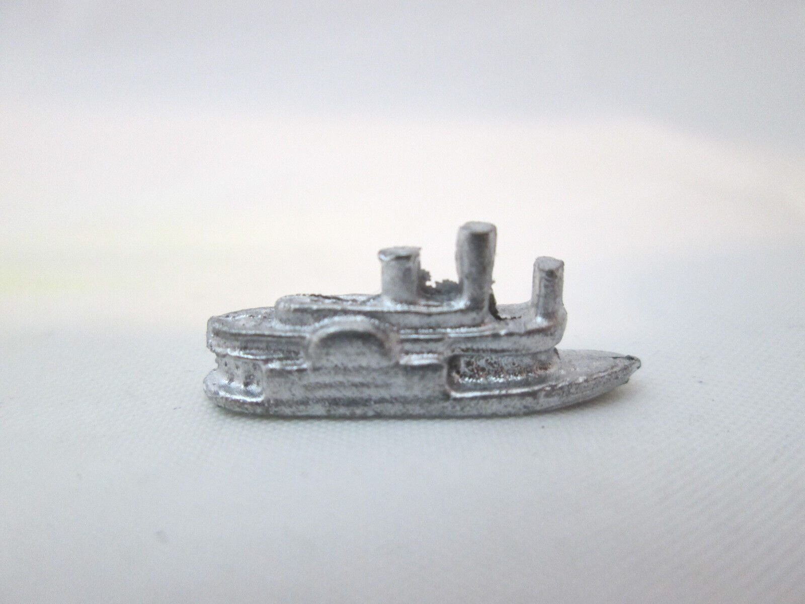 Dollhouse Miniature Unfinished Metal Toy  River Boat