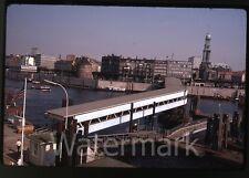 1969  kodachrome photo slide Hamburg Germany harbor uberseebrucke