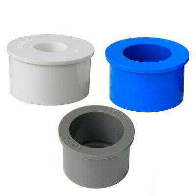 PVC Pipe Bushing Fittings Reducing Connector Joints 16 20 25 32 40 50 63 75 mm