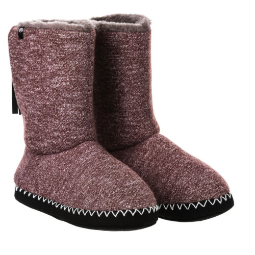 ANIMAL WOMENS SLIPPER BOOTS.BOLLO PINK//PURPLE FAUX FUR LINED SLIPPERS 8W 15 P77