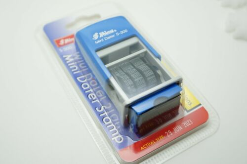 BLUE COLOR SHINY MINI DATER STAMP S-300 SIZE 3MM