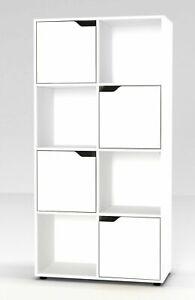 8 Cube bibliothèque étagère display étagère meuble de rangement en bois porte Organisateur