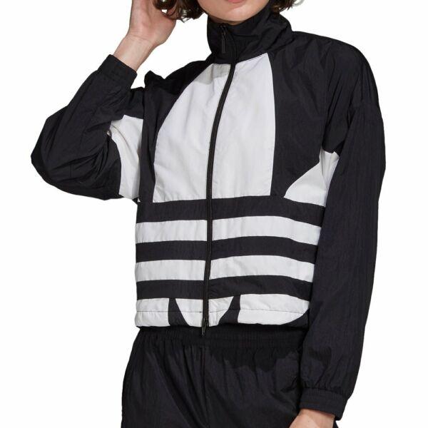 adidas Large Logo Track Top Jacket Black White Damen Trainingsjacke Schwarz Weiß