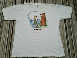 vtg-80s-90s-shoebox-greetings-t-shirt-2XL-fishing-bear-wrong