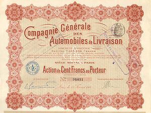 Compagnie-de-Automobiles-de-Livraison-SA-accion-Paris-1914