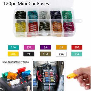 120x-Mini-Auto-Van-LKW-Blades-Sicherungen-Sortiment-Kit-2-3-5-10-15-20-25-30-35a