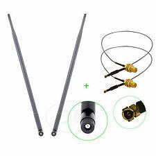 2 x 9dBi RP-SMA Antennas for D-Link DIR-825 Buffalo WHR-HP-G300N R10000G R10000