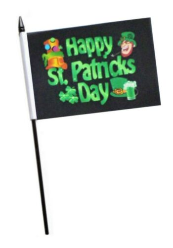 Happy St Patrick/'s Day Small Hand Waving Flag