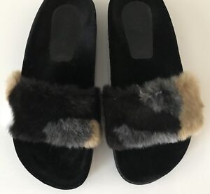 0dfeab63eff Image is loading Zara-Faux-Fur-Slides-Size-US-6