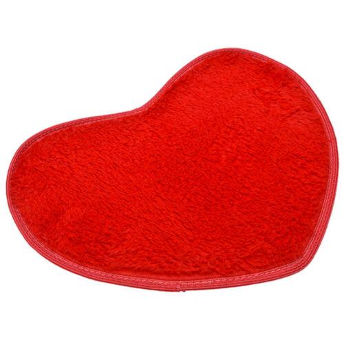 Soft Absorbent Memory Foam Bath Bathroom Floor Shower Heart Mat Rug