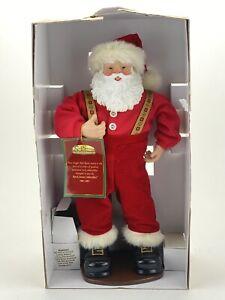"1998 ANIMATED JINGLE BELL ROCK DANCING 16"" SANTA MUSICAL CHRISTMAS FIGURE w BOX 4002123201544   eBay"