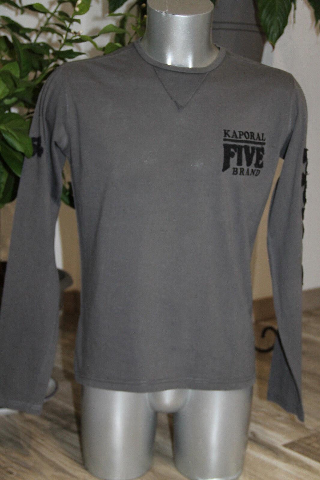 Carino maglioncino fine uomo girocollo di cotone grigio KAPORAL 5 Taglia M