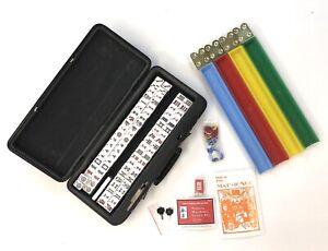 De-Coleccion-Conjunto-de-Juego-Mahjong-Mah-Jongg-166-Azulejos-dados-caso-con-llaves-libro-de