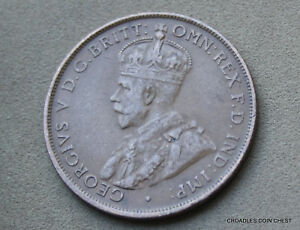 361 Rare 1931 Australia One Penny Extremely Fine Condition George V