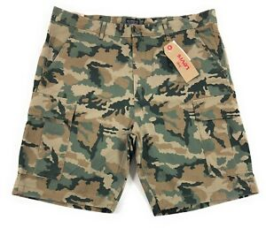 5459349622 Levis Carrier Cargo Shorts Mens Green Camo Camouflage 100% Cotton | eBay