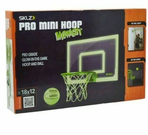 SKLZ Pro Mini Basketball Hoop With Ball Glow in The Dark 18 X 12 Inches for sale online