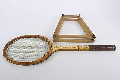 Vintage Wilson Jack Kramer Multi Powered Tennis Racket W/ Rack Press