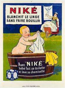 Original Vintage Poster-Eugene Ogé-Niké-Savon-Linge - Baby-XXe