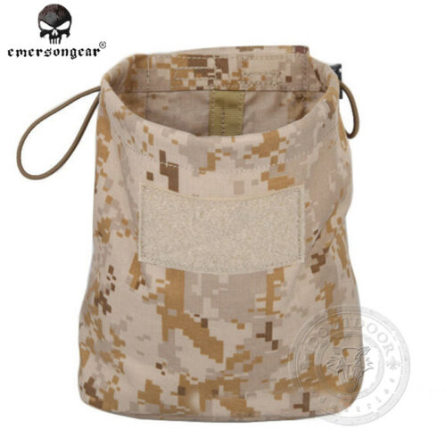 EMERSON Molle Magazine Dump Pouch Tactical Drop Pouch Army Hunting Airsoft Gear