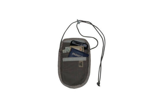 credit card holder neck safe Made in USA. Passport and travelers check holder
