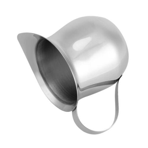 Stainless Steel Coffee Cup Frothing Milk Latte Jug Fancy Foam Pitcher 90//240ml B