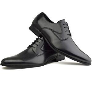 mens faux leather smart designer black formal suit dress