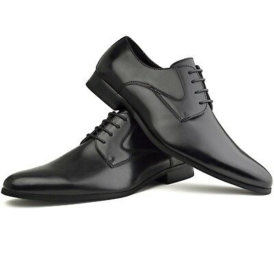 Besorgt Mens Faux Leather Smart Designer Black Formal Suit Dress Suede Wedding Shoes StraßEnpreis