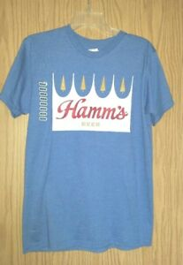 New-w-Tags-Lightweight-Blue-HAMM-039-S-Beer-Graphics-Size-M-Tee-Shirt
