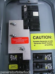 Details about SD-H200A Square D Generator interlock kit 150, 200 Amp  Homeline panel LISTED