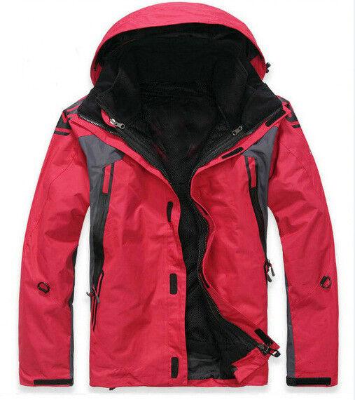 D04 Sie rot Ski Snowboard Winter Waterproof Breathable Jacket S M L XL XXL