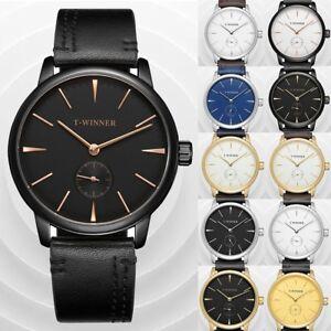 T-WINNER-Luxury-Men-039-s-Shock-Steel-Watch-Semi-automatic-Mechanical-Analog-Watches