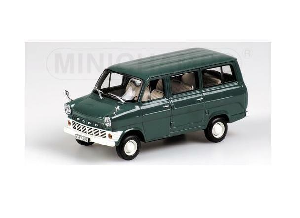 FORD TRANSIT - - - BUS - 1965 - GREEN 400082210 Minichamps 1 43 New in a box  357e6b