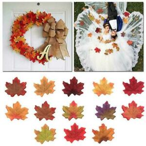 50Pcs-Autumn-Maple-Leaf-Fall-Fake-Silk-Leaves-Craft-Party-2020-NEW-Decor-V5A3