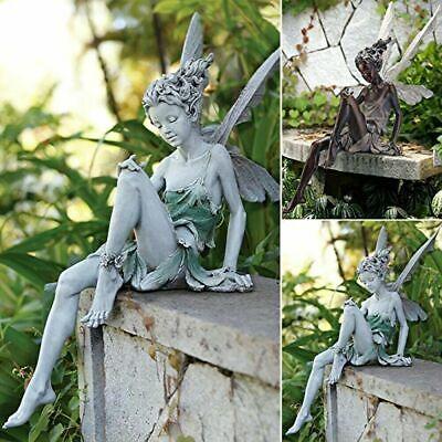 Tudor and Turek Sitting Fairy Statue Garden Ornament Yard Art Decor for Outside  | eBay
