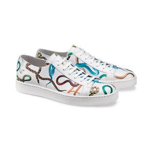 SANTONI-GUCCI-DOLCE-GABBANA-Uomo-Sneaker-Bassa-in-Pelle-42-8-come-Nuove