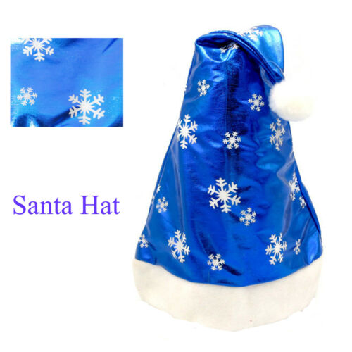 Christmas Santa Hat Blue And White Cap For Santa Claus Costume Decorations Hot
