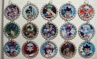 15 Beyblade Silver Flat Bottle Cap Necklaces Set 1