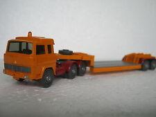 Wiking HO/1:87 503/3 Magirus 235 D Tieflade Sattelzug orange (CA/288-19S6/75)