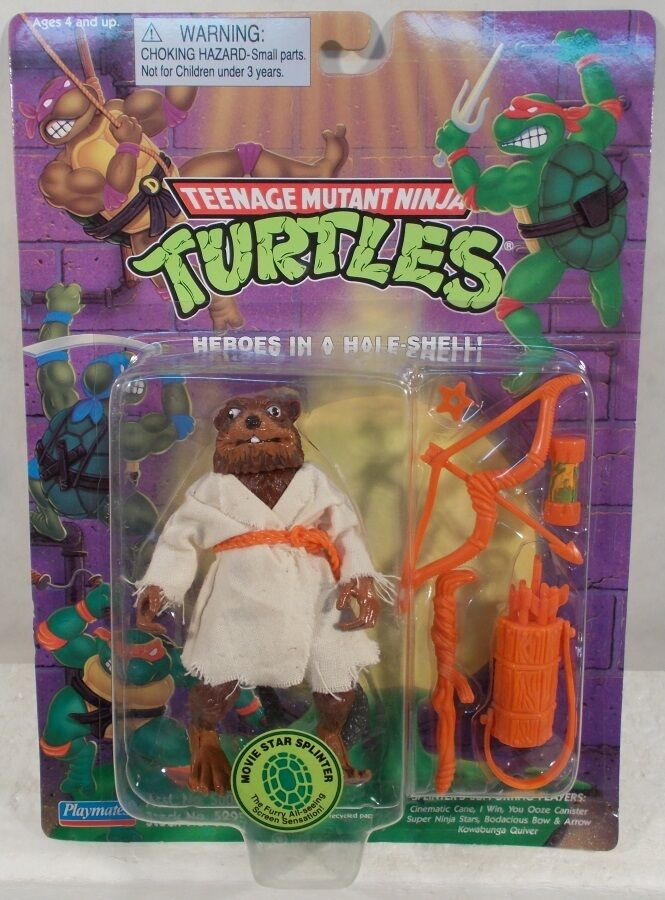 Teenage Mutant Ninja Turtles TMNT 1995 - Reissue Movie Star Splinter (MOC)